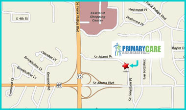 Location of Primary Care Associates, PC.